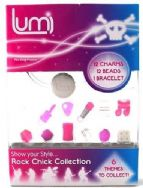 Lumi Glo Collection Bracelet Charms & Beads Accessory Pack - Rock Chick